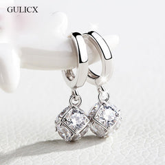 Gold Plated Crystal Zircon Statement Drop Earrings for Women