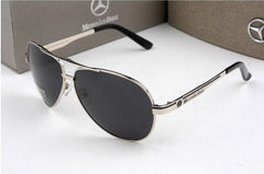 Fashion High Metal Frame Rectangle Lens Polarized Men Sunglasses