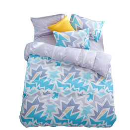 Papa&Mima Fashion Geometric Pattern Print Soft Polyester Fabric Twin/Double/Queen 3pcs set