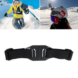 Cycling Skiing Vented Adjustable Head Helmet Strap Holder  For Gopro Hero