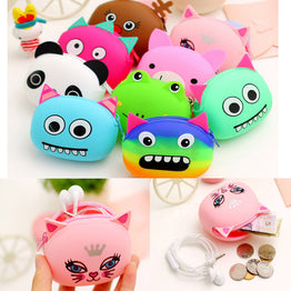 Animal Candy Colored 3D Cartoon Mini Coin Purse for Girls