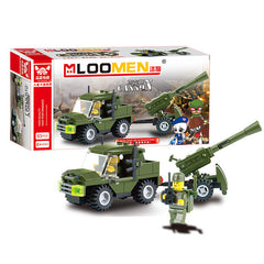 DIY Field Soldier Armies Cannon Building Blocks 93 pcs
