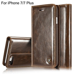 Luxury  Flip Cover for  iPhone 7 Genuine Real Leather Wallet type
