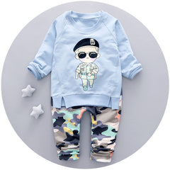 New Autumn baby boys clothing set fashion style high quality boys clothes full sleeve
