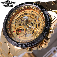 Men Automatic self-wind Fashion Casual Male Sports Watch