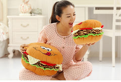 Plush Hugable Pillow Hamburger
