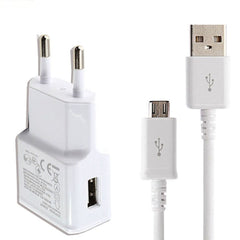 2A EU Plug Travel Wall Charger Adapter Data Sync Micro Usb Cable For Samsung