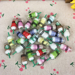 Cabochon Kawaii Logo Bottle Embellishment Accessories Scrapbooking Crafts Decoration 10Pieces