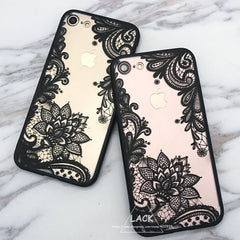Luxury Lace Cartoon Flower Case For iphone 7