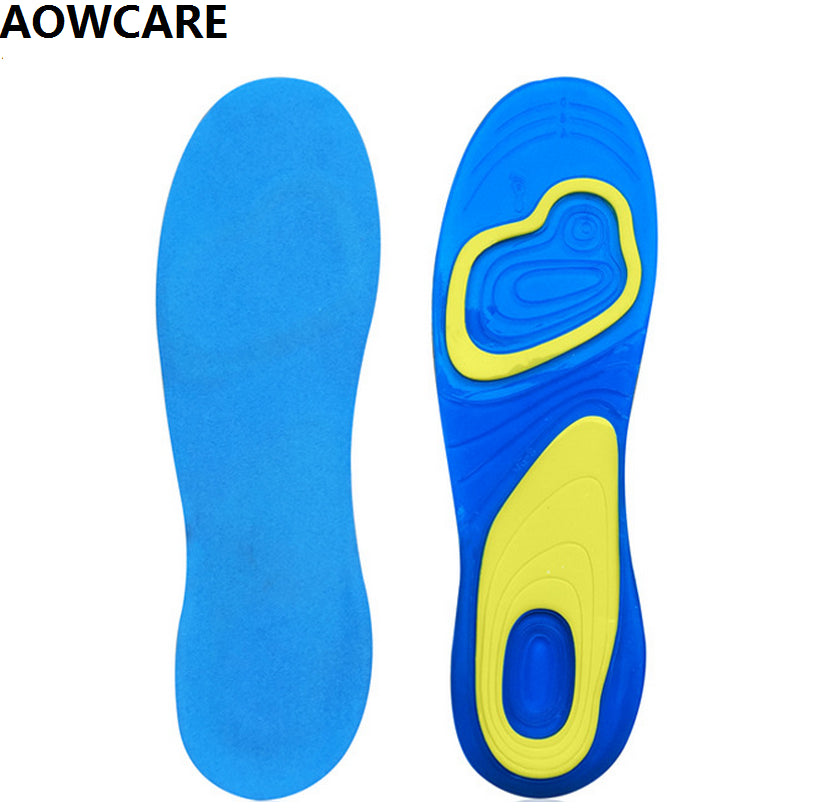 Silicon Gel Foot Care for Heel Spur Running Sport Insoles for men and women