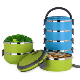 Stainless Steel 1-4 Layers Portable Thermos Bento Lunch Box