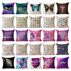 3D Print Cushion Cover Colourful Cosmic Decorative Pillows