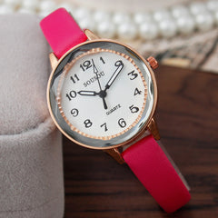 Women Top Brand fashion Wristwatch quartz watch Clock