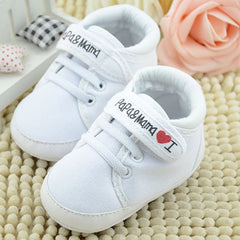 Soft Sole Letter Print Toddler Shoes for Infant Babies 0-18M