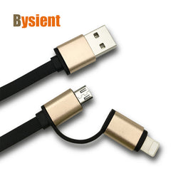2 in 1 micro lightning USB Cable for Android, iPhone iPad