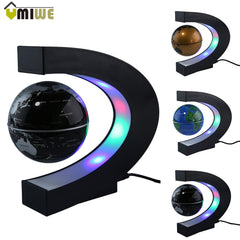 Home Decoration LED Floating Magnetic Globe World Map With LED Light US/UK/EU Plug