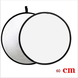 Collapsible white and Silver Photography Reflector 60cm Photo accessories for flash light