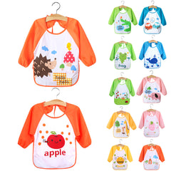 Children Baby Toddlers Waterproof Long Sleeve Art Smock Bibs Apron