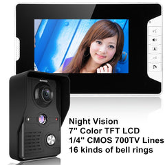 "7 ""LCD Video Door Phone Video Intercom Doorbell Home Security IR Camera"