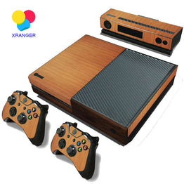 Wood Decal Skin Stickers For Microsoft XBOX ONE + 2PCS Controller Skin Console Stickers