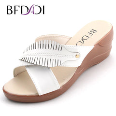 BFDADI Big Size 37-42 Summer Style Women Wedges Sandals