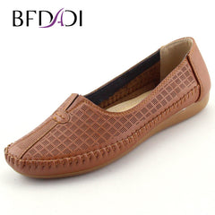 BFDADI Large Size Casual Comfort Moccasins Anti skid Flat Shoes