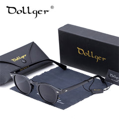 Dollger Vintage Retro Round Sunglasses Black For Men New Luxury Womens Sunglasses