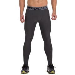 Compression Mens pants bodybuilding jogger fitness exercise skinny leggings tights pants