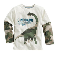 Dinosaur Long Sleeve Cotton T Shirt
