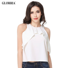 Sexy Casual Fashion Glorria Women Elegant O-Neck Off the Shoulder Sleeveless Short