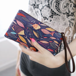 High Quality Cartoon Print Design Wallet for Women