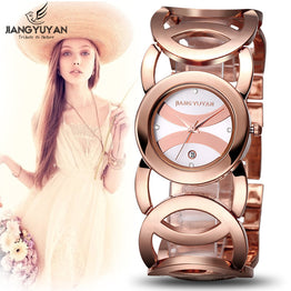 Luxury Brand Bracelet Gold Watch Women Calendar Analog Quartz Watch