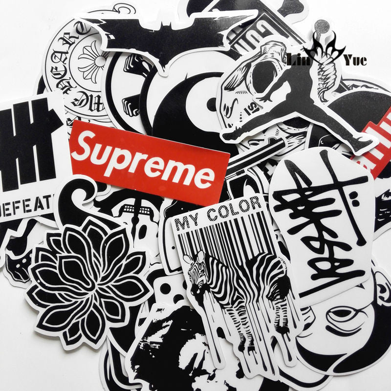 45 mixed graffiti supreme sticker waterproof