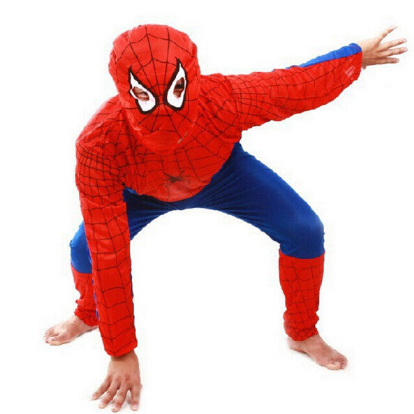 SpiderMan Children Clothing Sets 3pcs/1set Fashion Spider Man Cosplay Costume For Kids