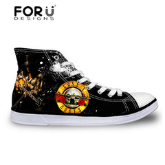 FORUDESIGNS Gun N Rose Printed Casual Shoes  for Men