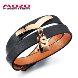 Double Layer Leather Rope Adjustable Vintage Wrap Bracelet