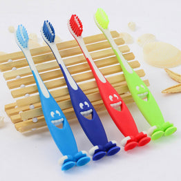 4 Pcs/Lot Soft Bristle Oral Hygiene Smile Characters Kids toothbrush