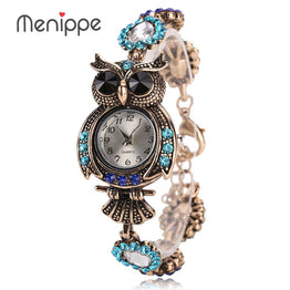 Vintage Quartz Luxury Owl Fashion Women Bracelet Watch