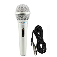 Professional Dynamic Condenser Silver Wired Microphone For Karaoke Amplifier Guitar Mic