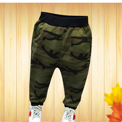 Autumn Kids Boys Clothing Sets sport suit full sleeves blouse + camouflage pants tracksuits 2-7Ys