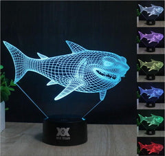 3D Dinosaur Lamp USB Touch Switch 7 Colors Change Creative Design Night Light