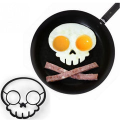 Kitchen Gadgets Funny Side Up Silicone Skull Fried Egg Mold Cooking Tools