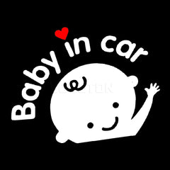 Car Sticker boy with Baby in Car for car Styling Baby on Board car Decoration