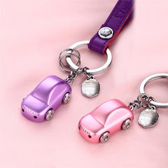 Car Shape LED Light MILESI Metal Key chain