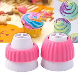 3-color Cake Decorating Icing Nozzle