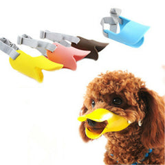 Dog Mask Muzzle Silicone Duck Mouth Design Bark Bite stop Dog Muzzles Anti-bite Masks