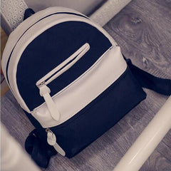 New Fashion Preppy Style Patchwork Backpack for Teenagers