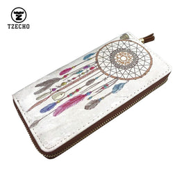 Print Dream Catcher Leather PU Wallet purse for Women