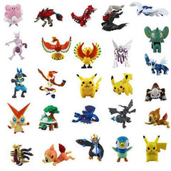 Action & Toy Figures 72pcs  2-3cm Pokeball Pikachu