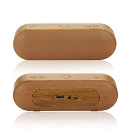 Wooden Color Bluetooth Rechargeable 2.0 Speaker Altavoz support FM Radio SD Card Aux IN